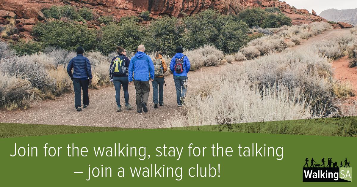 social media tile Rectangle 1200px x 630px: Join for the walking, stay for the talking – join a walking club!