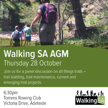 Walking SA AGM with Panel Discussion on Trails and Award Ceremony