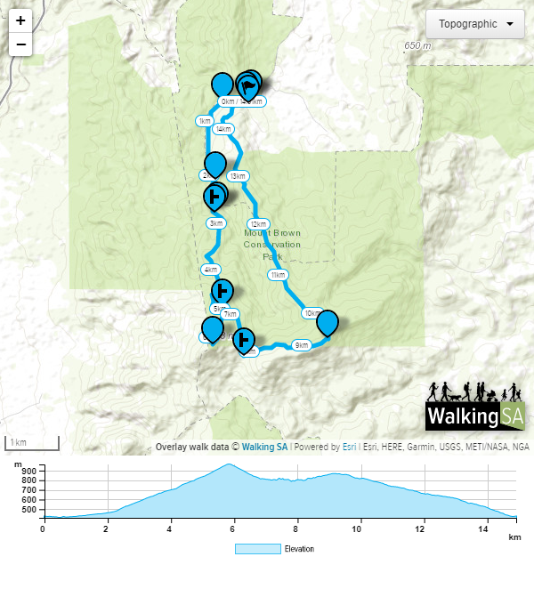 Map of trail